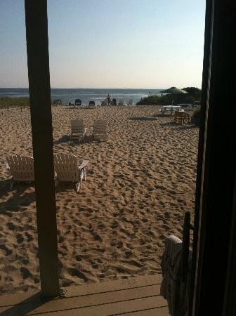 Sandbars on Cape Cod Bay: view from our room