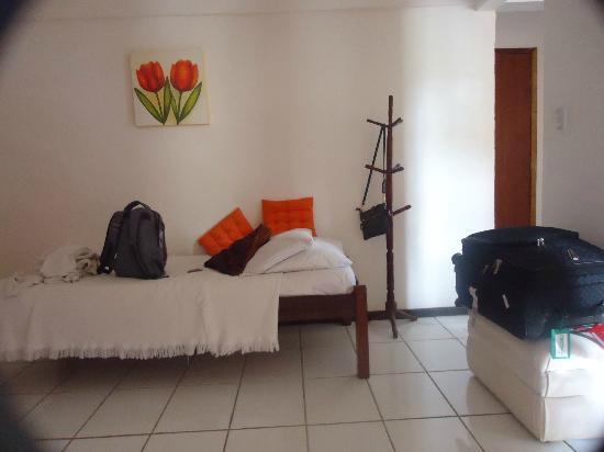 Pousada Vila do Sol: Esta es solo la cama adicional que venia. La matrimonial es la que pueden ver en otros viajeros.