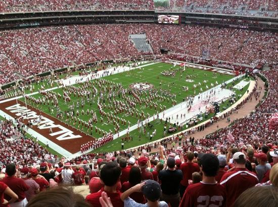 Bryant Denny Stadium: View from section U row 16 seat 22