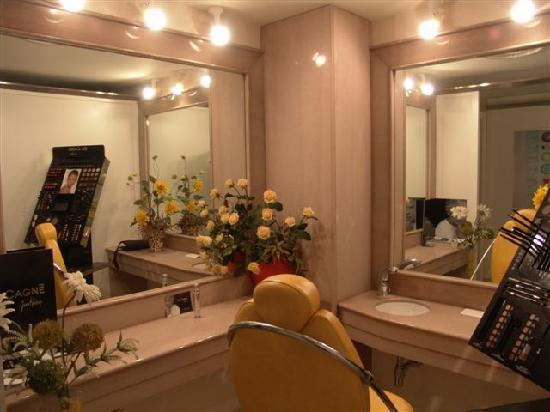 Hotel Villa Afrodite: Sala Make up
