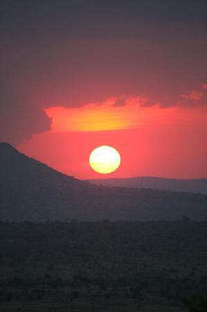 Cottar's 1920's & Cottar's Bush Villa: Sunset from my tent, Cottars Safari