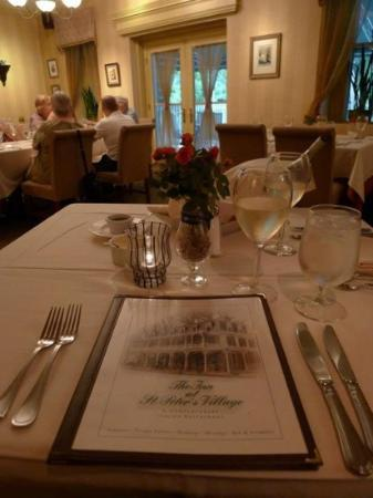Inn at St. Peter's Village: a view from the table.
