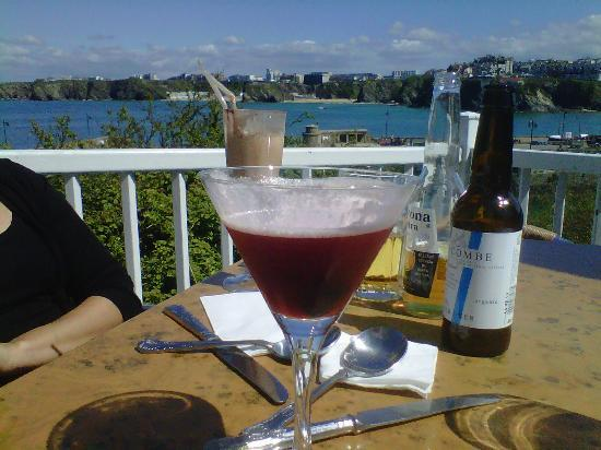 Harbour Fish and Grill: the view and refreshing cocktail