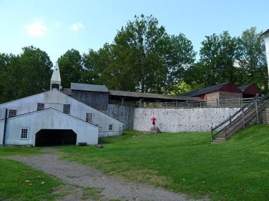 Inn at St. Peter's Village: the furnace room and bellows