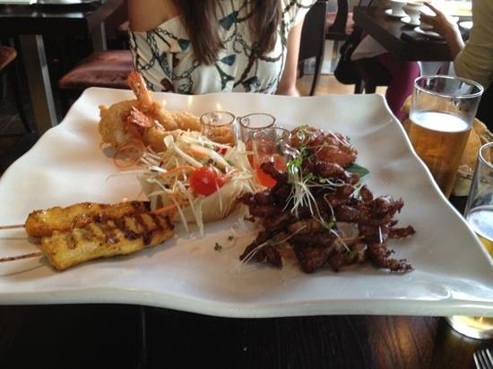 Chaophraya Leeds: Asian sharing plate- delicious!