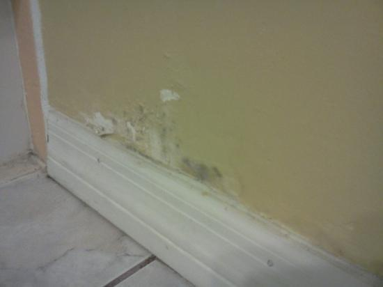 Beachwalk Inn: Bathroom - shows mold on wall