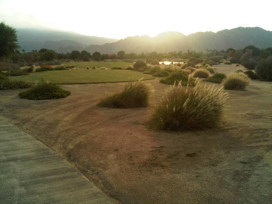 PGA West TPC Stadium Golf Course: 18th Tee late in the day at PGA West in September
