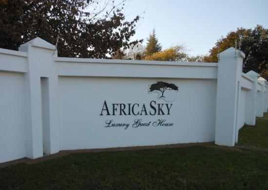 AfricaSky Guest House: Front Entrance