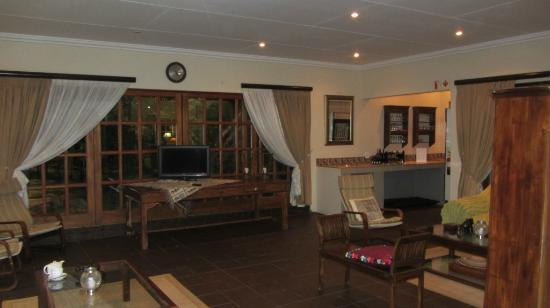 AfricaSky Guest House: The outdoor sitting room and bar.