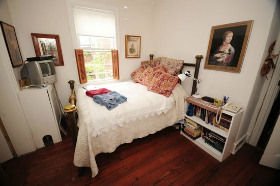 Celia's Place: Guest Bedroom with Double Sized Brass Bed