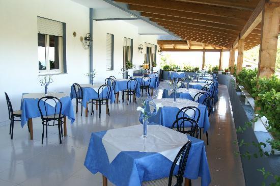 terrazzo coperto lato piscina x colazioni - Picture of New Hotel Blu ...