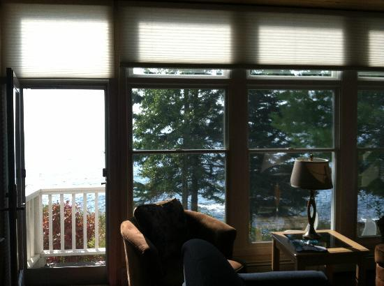 Bluefin Bay on Lake Superior: View from our room