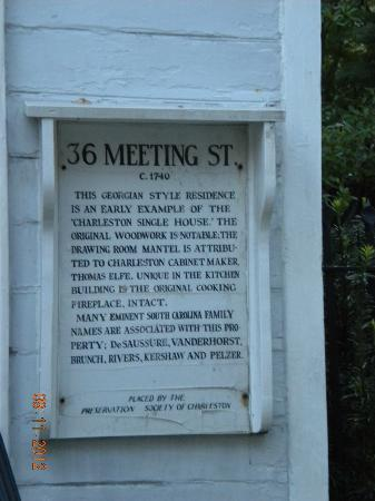 36 Meeting Street: historic information on the house