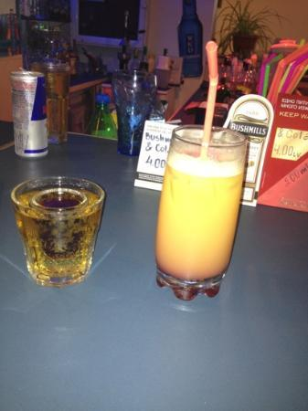 Laguna Park Hotel: jäger bomb and pussy crasher best drink in Bulgaria haha
