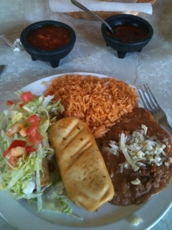El Tapatio DE Jalisco: lunch special- chicken chimichanga and flauta looked good but no flavor