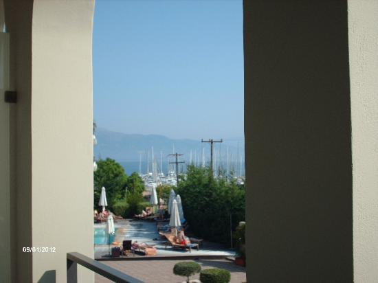 Corfu Mare Boutique Hotel: view from first floor room balcony