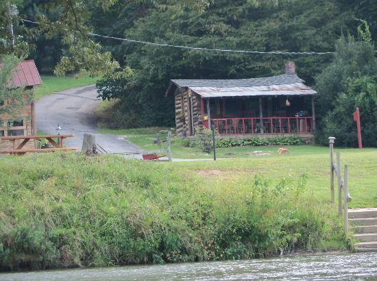 Asheville River Cabins: The Cabin from the river