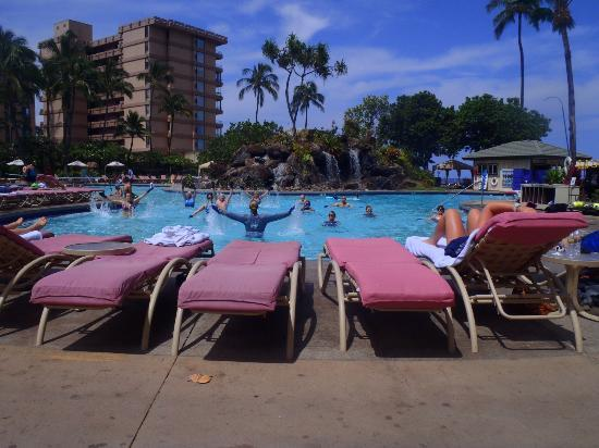 Ka'anapali Beach Club: Water Aerobics class