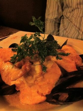 La Table du Pré Saint Michel : choucroute de la mer, saumon et coquillages