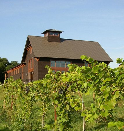 Shelburne Vineyard: Our winery from the South