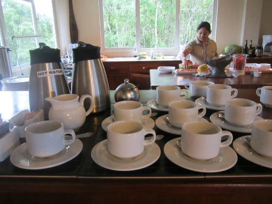 Semilla Verde Boutique Hotel : Coffee set up in early morning