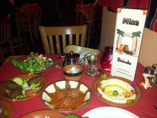 Mina Restaurant: Assorted cold and hot mezzeh