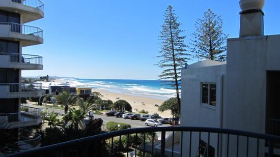 Coolum Baywatch Resort: View of beach from balcony