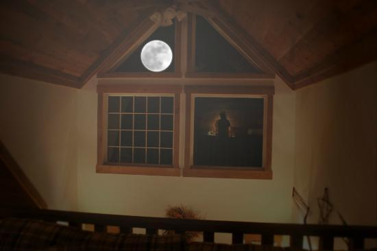 Premier Carriage House Cottages: night moon