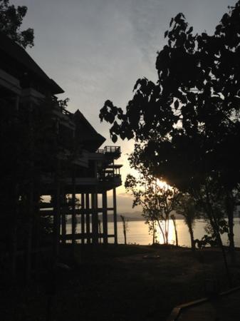 Gaya Island Resort: early morning