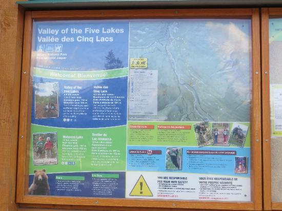 Valley of Five Lakes : Valley of the Five Lakes Info Board
