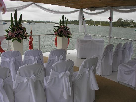 Catalina Cruises Noosa: A wedding setup