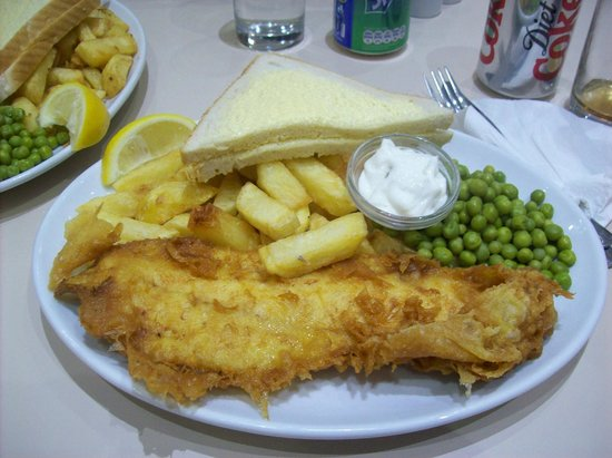 The Oban Bay Fish Bar & Restaurant: Just what we ordered, fish and chips