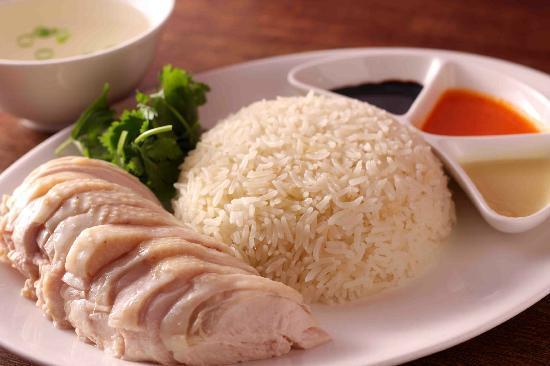 Singapura: Hainan Chicken & Rice