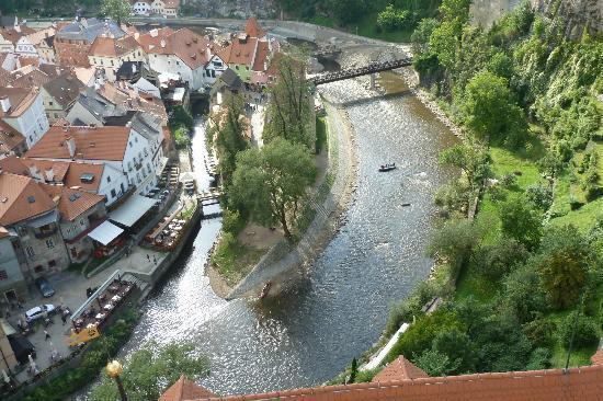 Historic Center of Cesky Krumlov : Above the Vltava
