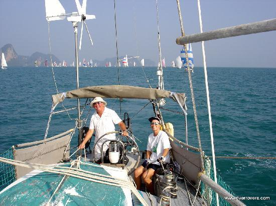 River Rovers: Captain Gordon leading the Phang Nga Regatta and winning