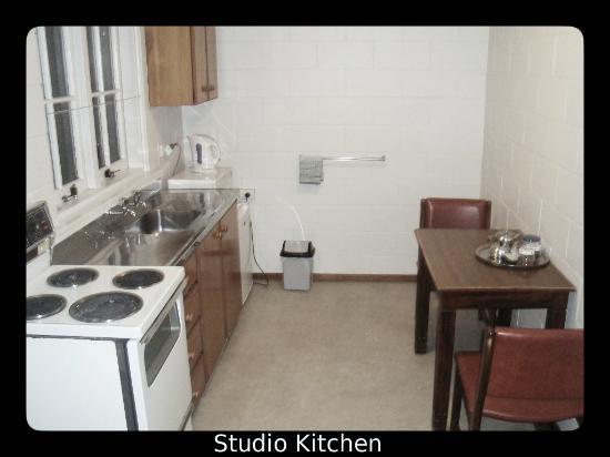 Brown's Bay Olive Tree Motel & Apartment: Studio Kitchen