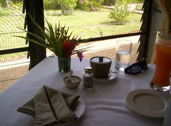 Hidden Valley Inn : Breakfast table, pretty.