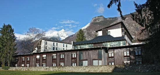Hotel Alp: Mt. Kanin and Mt. Rombon in the background