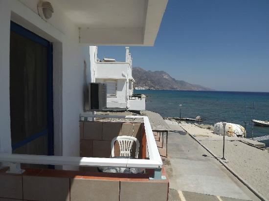 Studios Ladikos Beach: view from the balcony