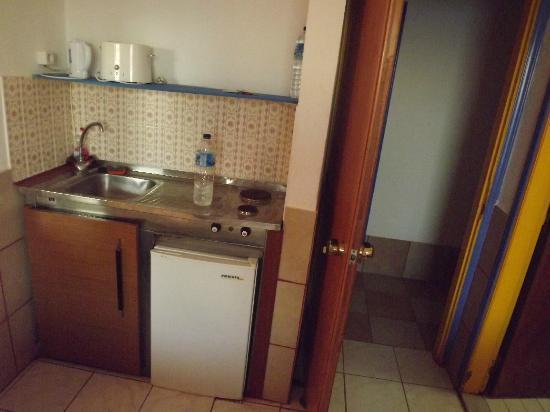 Studios Ladikos Beach: kitchen
