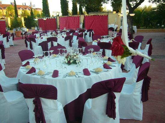 Hotel Mitra: Terraza boda 2