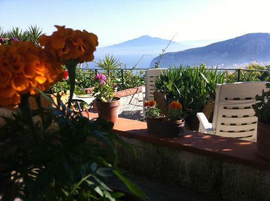 Villa Monica B&B: View from lounge zone....