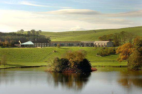 The Coniston Hotel Country Estate & Spa: View of the Hotel from beyond the lake