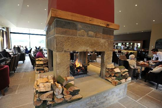 Coniston Cold, UK: The feature fire place in the Huntsman's Lodge