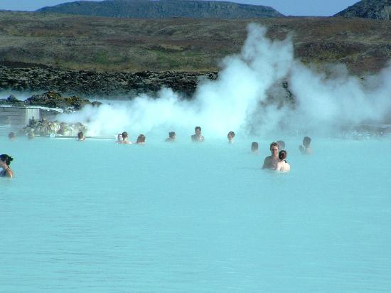 Blue Lagoon Iceland: Enjoying the warm waters