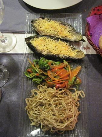 Ma Cuisine Resto: Sides (Aubergine,Stirfry veggies and Noodles)