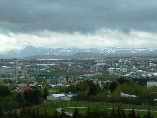 The Pearl (Perlan): Stormy morning over Reykjavik