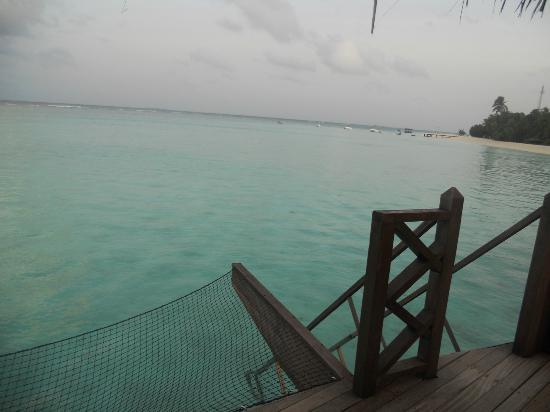 Kanuhura - Maldives: view from terrace of villa