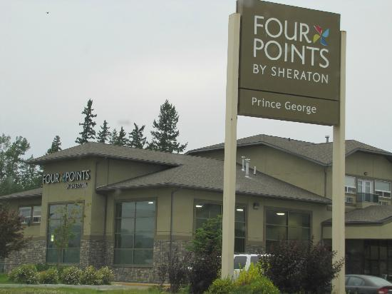 Four Points by Sheraton Prince George: parking area looking at Hotel