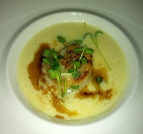 Fischerhaus: zuppa di patate e cappesante